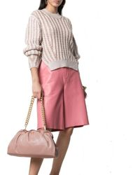 Pinko Leather Shoulder Bag - Pink