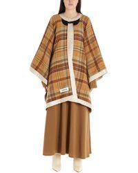 Lanvin Wool Poncho - Brown