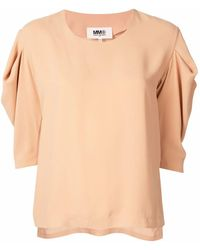 Maison Margiela POLYESTER TOP - Pink