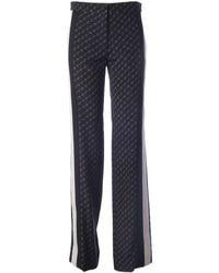 Stella McCartney Blue Silk Trousers