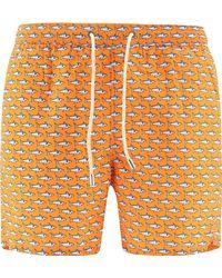 Mc2 Saint Barth POLYESTER BADEBOXER - Orange