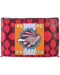 PS by Paul Smith Red Polyurethane Clutch