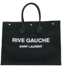 Saint Laurent Black Cotton Briefcase
