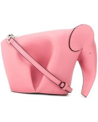 Loewe LEDER SCHULTERTASCHE - Pink