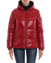 Save The Duck Hooded Puffer Jacket - Red