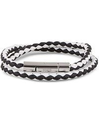 Tod's White/black Leather Bracelet