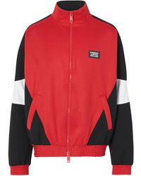 Burberry Trainingsjacke mit Logo - Rot