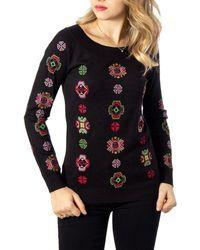 Desigual Black Viscose Sweater