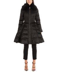Elisabetta Franchi Black Polyester Down Jacket