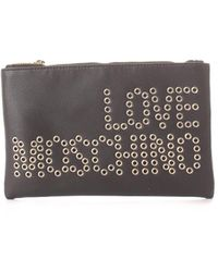 Love Moschino Faux Leather Pouch - Black