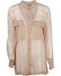 Alberta Ferretti - Pink Silk Blouse - Lyst