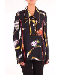 Marni Black Viscose Polo Shirt