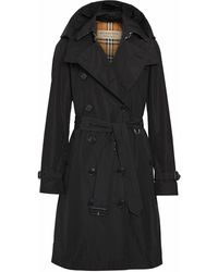 Burberry POLYESTER TRENCH COAT - Schwarz