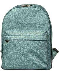Borbonese Polyester Backpack - Green
