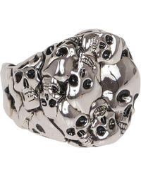 McQ 663691j160y0446 Metal Ring - Metallic