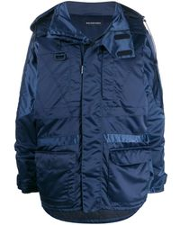 Balenciaga Synthetic Fibres Outerwear Jacket - Blue