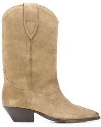 Isabel Marant Suede Ankle Boots - Natural