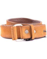 Orciani Yellow Leather Belt
