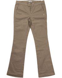 Jeckerson Beige Cotton Pants - Natural