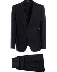 Emporio Armani Grey Wool Suit - Gray