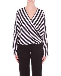 FEDERICA TOSI - White/black Polyester Jumper - Lyst