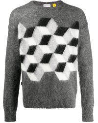 Moncler WOLLE SWEATER - Grau