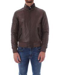 Gran Sasso U10m0031 Leather Outerwear Jacket - Brown