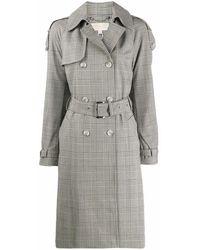 Michael Kors Wool Trench Coat - Grey