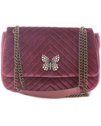 Twin Set - Burgundy Polyester Shoulder Bag - Lyst