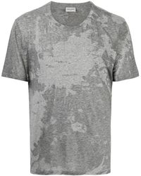 Saint Laurent T-Shirt mit Batik-Print - Grau