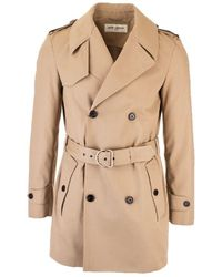 Saint Laurent Polyester Trench Coat - Natural