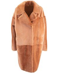 DROMe Brown Faux Leather Coat
