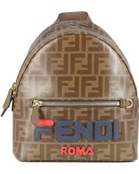 Fendi - Brown Leather Backpack - Lyst