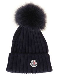 Moncler Blue Wool Hat
