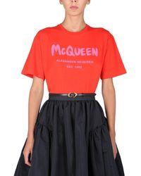 Alexander McQueen ANDERE MATERIALIEN T-SHIRT - Mehrfarbig