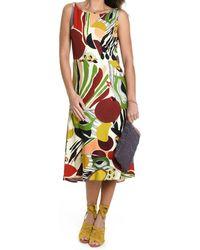 Maliparmi Multicolor Viscose Dress
