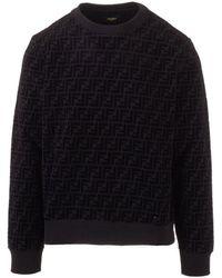 Fendi Other Materials Sweatshirt - Black