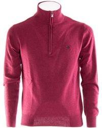 Beverly Hills Polo Club Burgundy Wool Jumper - Multicolour