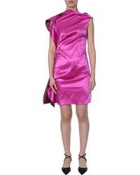 Lanvin FUCHSIA SEIDE KLEID - Pink