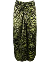 Ganni Green Silk Skirt