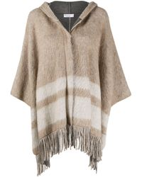 Brunello Cucinelli Wool Poncho - Natural