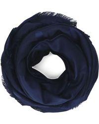 Ferragamo Blue Silk Scarf