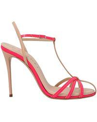 Casadei LEDER SANDALEN - Pink