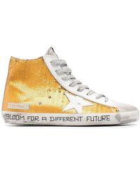 Golden Goose Francy High-Top-Sneakers - Mettallic