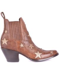 Mexicana Brown Leather Ankle Boots