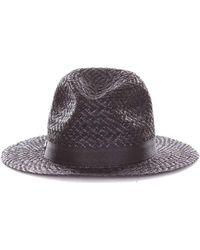 Armani Black Canvas Hat