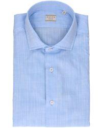Xacus Fuchsia Cotton Shirt - Blue