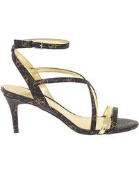 Guess Leather Sandals - Black