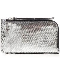 Isabel Marant Leather Card Holder - Metallic