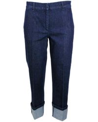 Fabiana Filippi Cotton Jeans - Blue